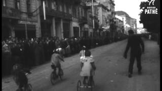 children 39 s cycle race in lvov 1957