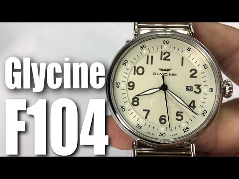 Glycine F104 Silver Dial Automatic 48mm Watch GL0125 Review and Comparison to the Limited Edition