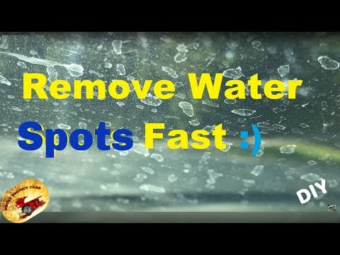 HOW To Remove NASTY WATER SPOTS on Glass PERMANENTLY !!