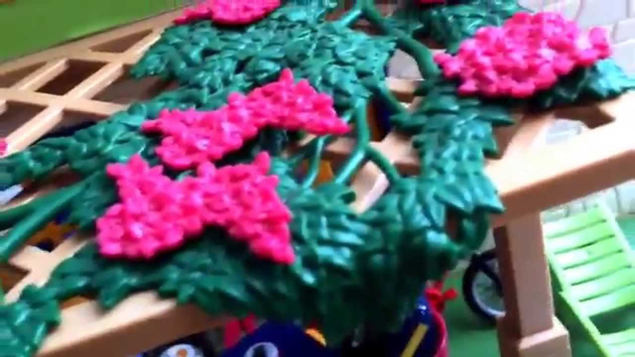 Présentation playmobil jardin camion maison - YouTube