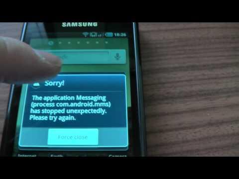 Samsung Galaxy S com.sec.android problem.