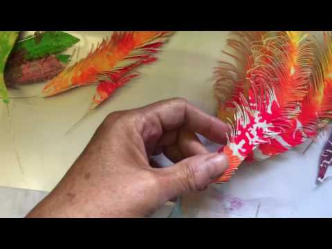 Paper feathers inspired by Secret Soto