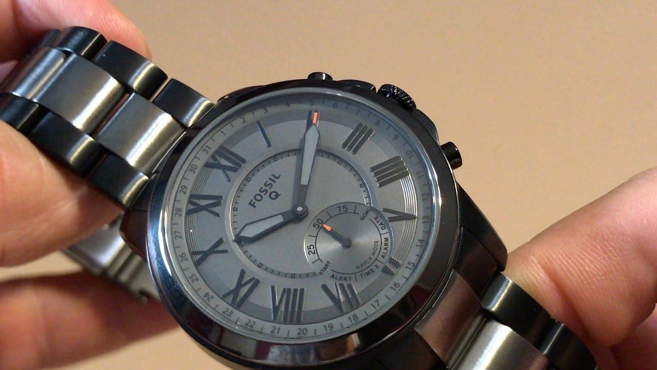 Fossil Q Grant Gen 2 Hybrid Smartwatch Ftw1139 Youtube