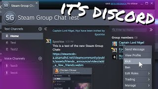 STEAM BETA UPDATE: They made... Discord? (Steam Chat Beta)