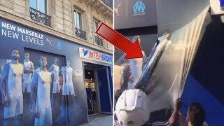 CE QUE LES FANS DU PSG ONT FAIT A LA BOUTIQUE DE L'OM INSTALÉE A PARIS ! 😲