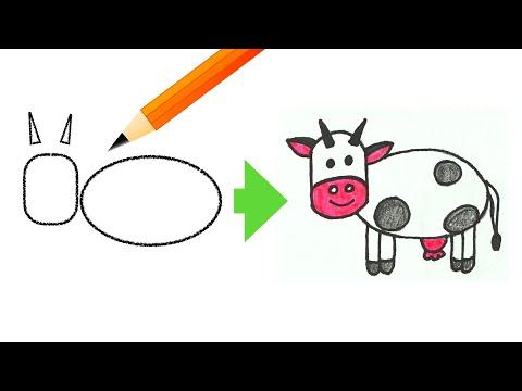 Учимся рисовать животных. Рисование для детей