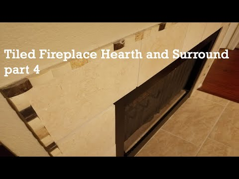 Tiled fireplace hearth and surround - part4