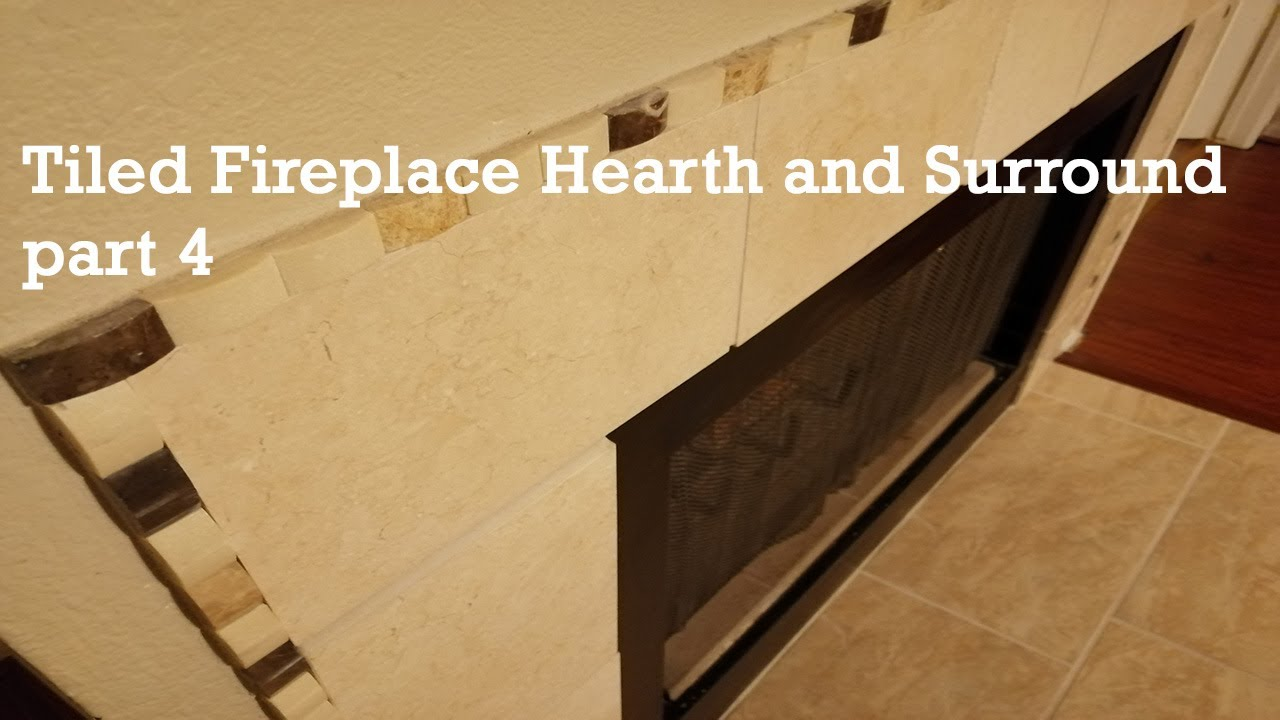 tiled fireplace hearth and surround part 4 youtube