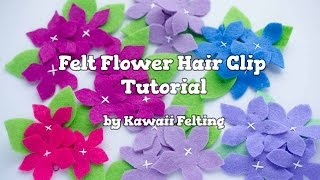 Kawaii DIY: Felt Flowers Hair Clip | DIY Hair Accessories