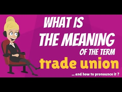 What is TRADE UNION? What does TRADE UNION mean? TRADE UNION meaning, definition & explanation