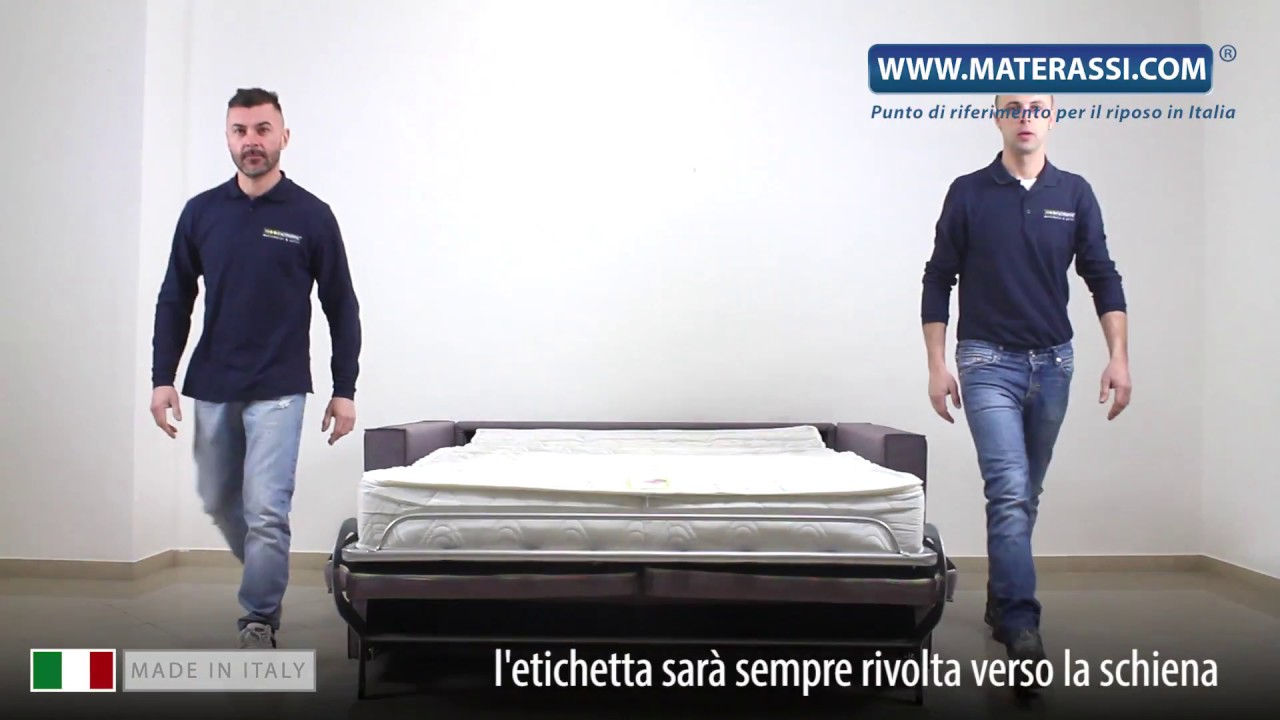 Come montare un divano letto con braccioli youtube - Divano fatto con materassi ...