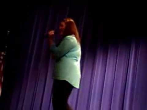 Lauryn Strahl at the 2014 Junction City Middle School (Kansas) Talent Show