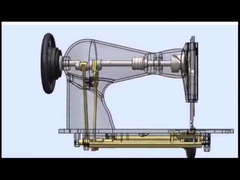 funcionamento de maquina de costura - YouTube
