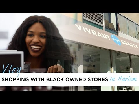 VLOG: Shopping with Black Owned Stores in Harlem | #iamSQA