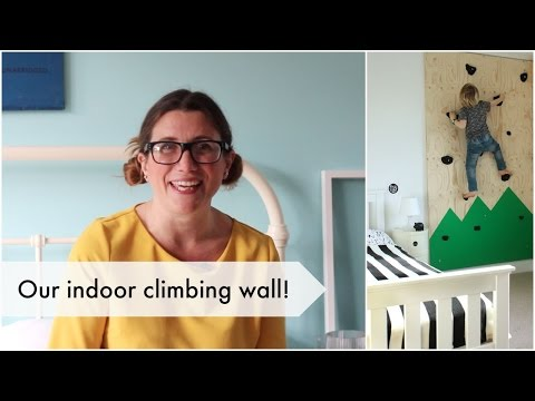 Climbing wall for a 5-year-old's bedroom! | Heather At Home