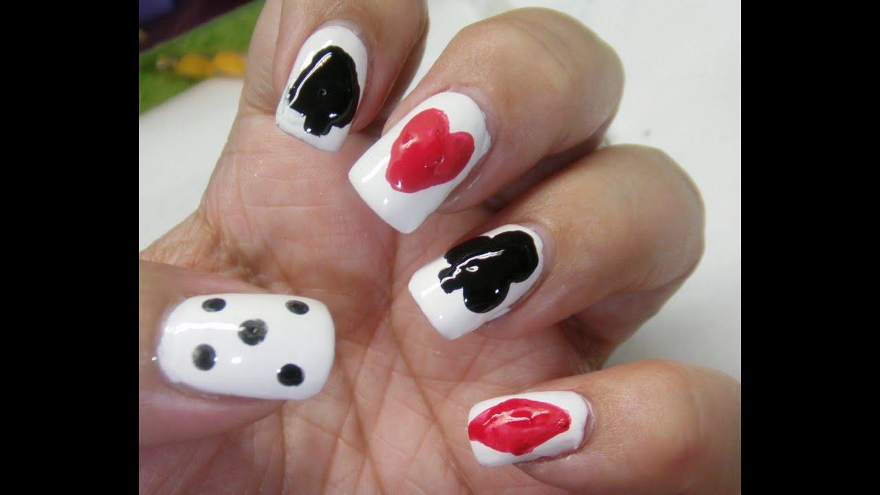 Playing Card nail design - YouTube