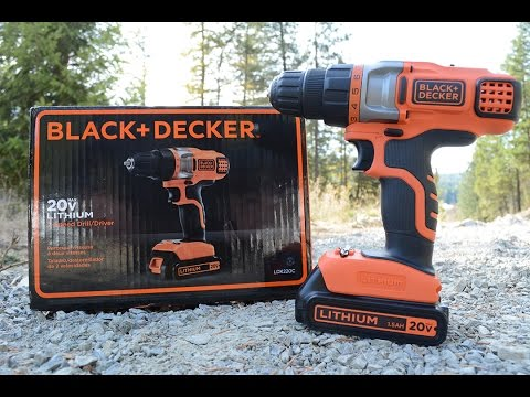 Black and Decker 2-Speed, 20-Volt Lithium Cordless Drill Unb