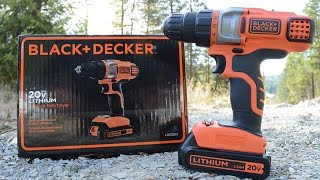 Black and Decker 2-Speed, 20-Volt Lithium Cordless Drill Unboxing
