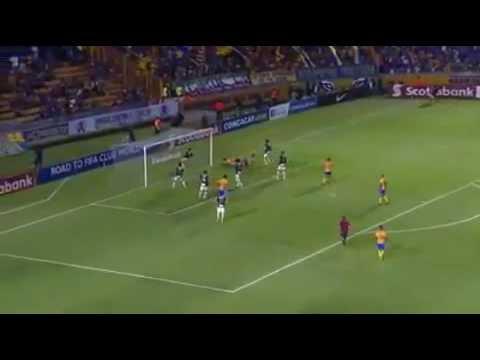 Tigres vs herediano  gol de hugo ayala 1-0