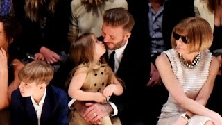 Harper Beckham Steals the Burberry Fashion Show With Her Angelic Face