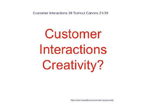Customer Interactions 39 Turnout Canons