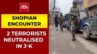 2 Terrorists Killed, 3 Security Personnel Injured In Shopian Encounter, Search Operations Continue
