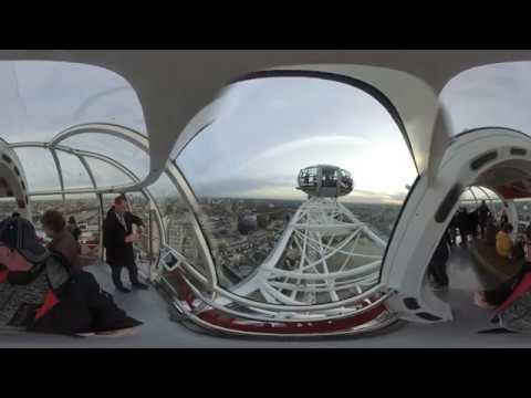 London Eye 360 VR eine volle Runde ca. 40 Minuten London von oben #Garminvirb