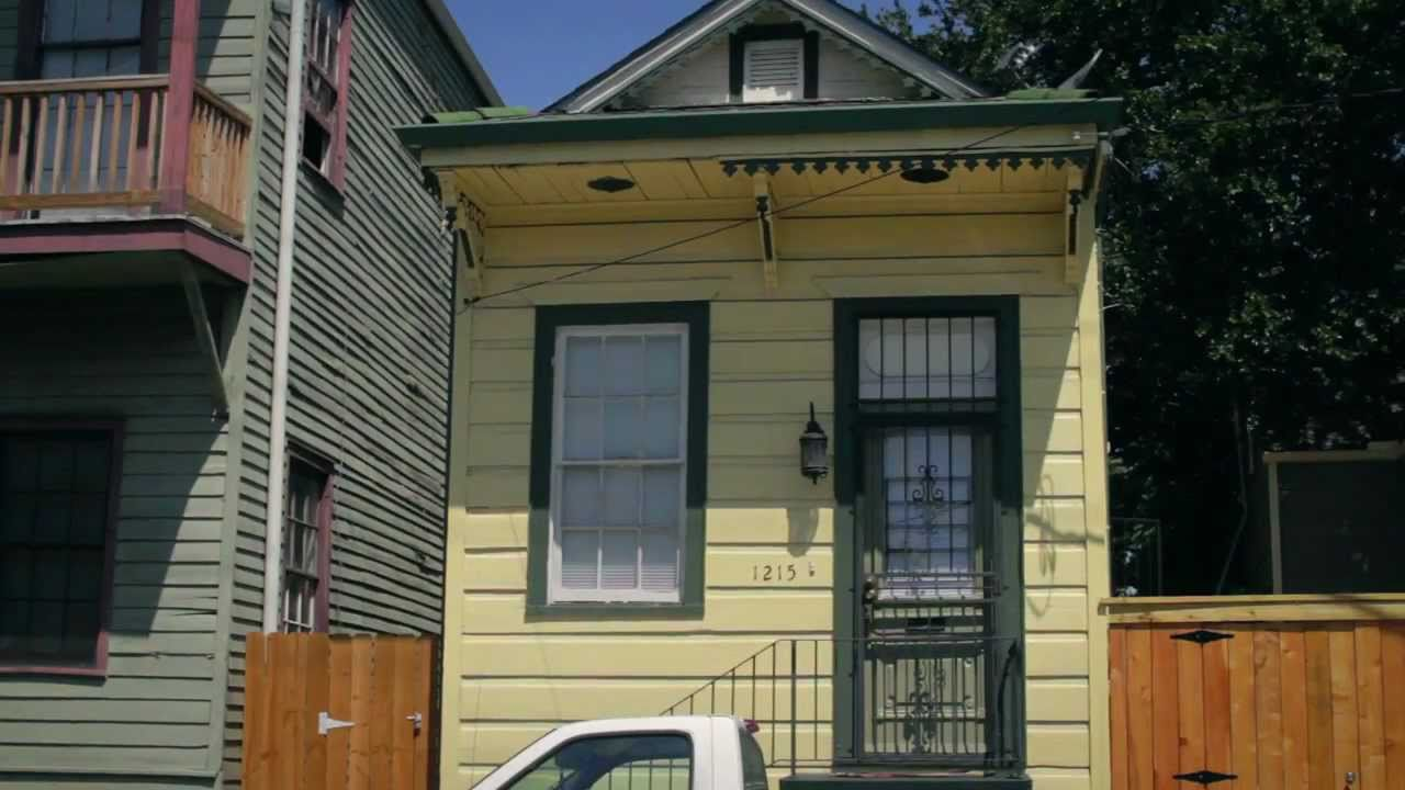Merveilleux New Orleans Shotgun House   YouTube