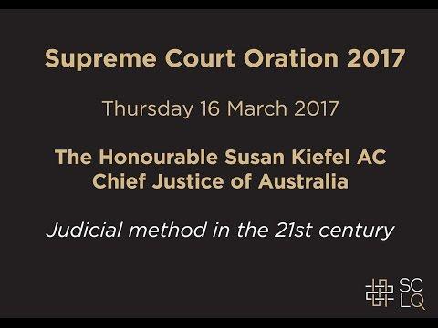 2017 Supreme Court of Queensland Oration