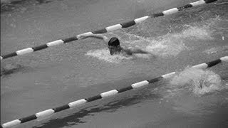 Mark Spitz Finishes Last In The 200m Butterfly - Mexico 1968 Olympics