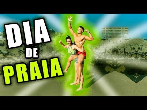 PRIMEIRO DIA DE PRAIA EM 2018 !!!