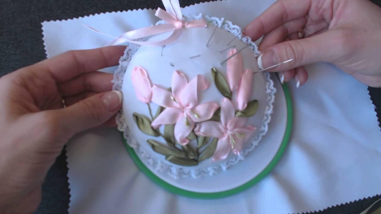 Видео курсы по вышивки лентами