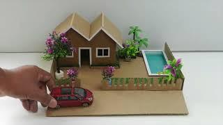 كيف تصنع بيت من الكرتون يمكنك عملها في المنزلك