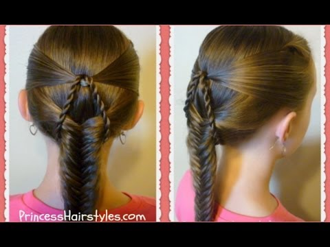 """""""suspended fishtail"""" braided hairstyle"""