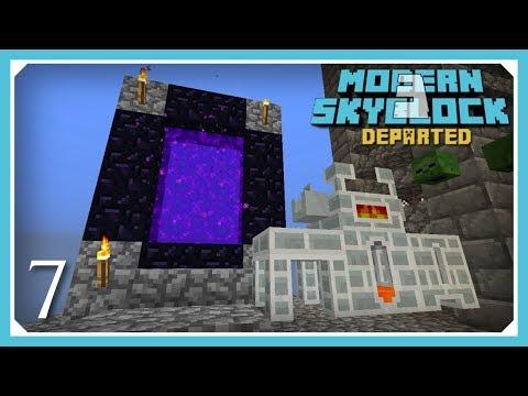 Modern Skyblock 3 Departed | Porcelain Smeltery & The Nether | E7 (Modern Skyblock 3 Gated)