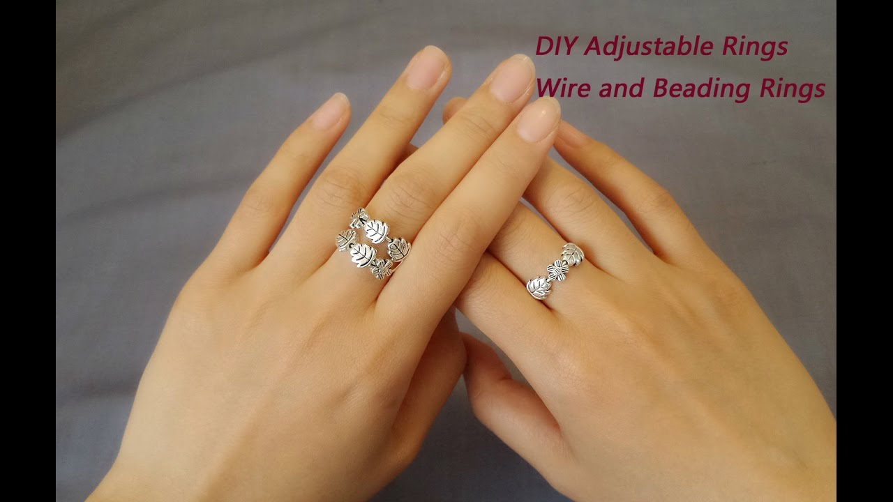 Easy DIY Adjustable Rings Leaf And Flower Wire And