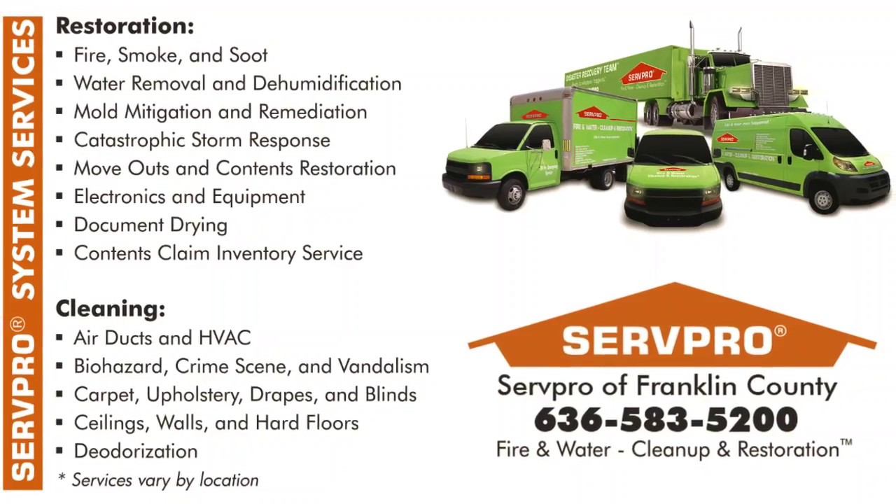 Union, MO Water, Fire & Mold Damage Cleanup and Restoration
