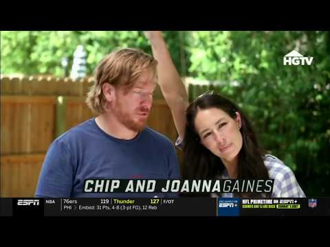 2019   Chip and Joanna Gaines on ESPN gameday at Baylor