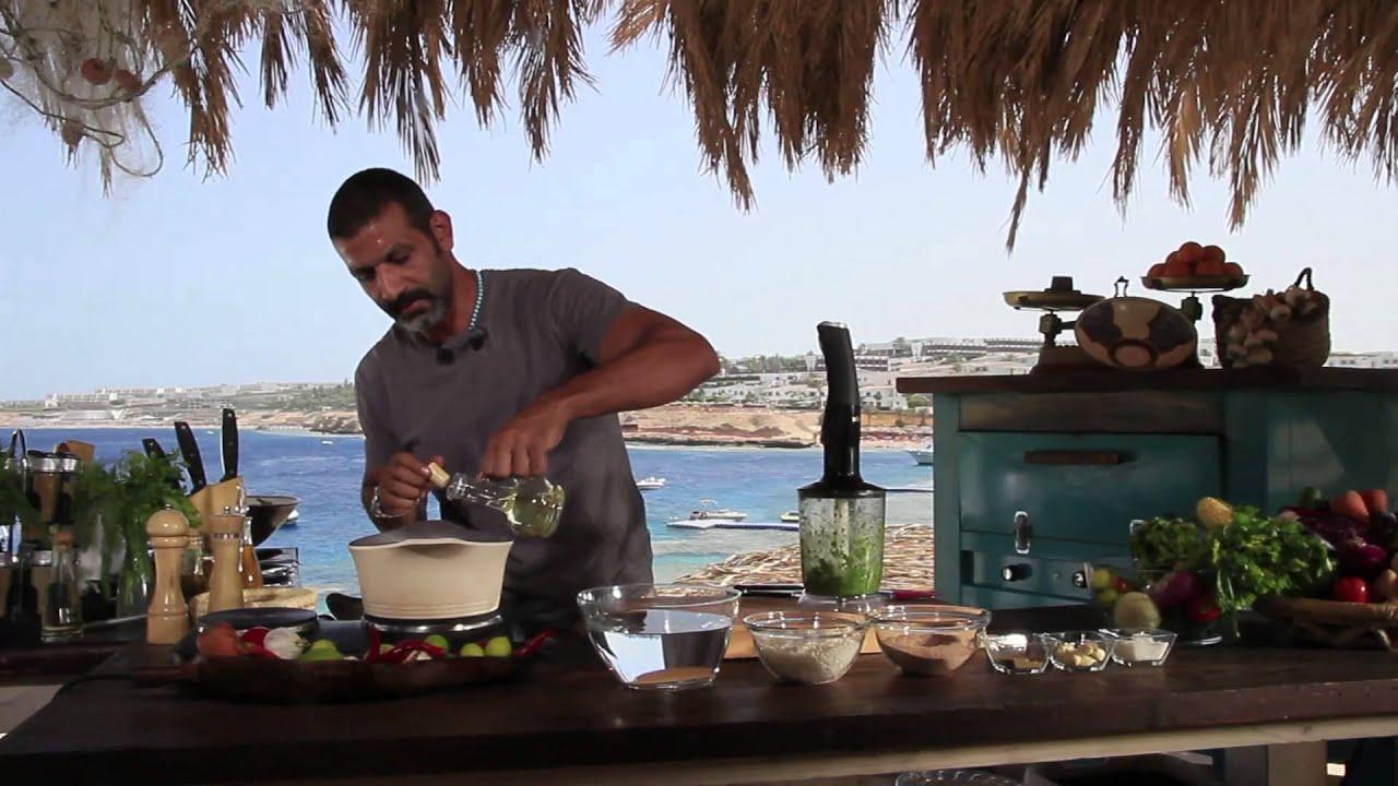 سمك بورى مشوى - أرز أخضر بالبقدونس و الكزبرة الخضرة : شبكة وصنارة حلقة كاملة