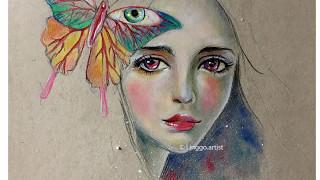 Linggo.artist- Drawing time lapse: Surrealism illustration