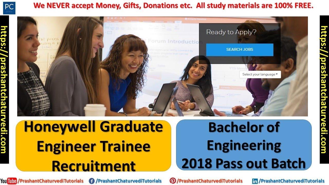 Honeywell Graduate Engineer Trainee Recruitment 2018 || 2018 Batch || Apply  Now ||