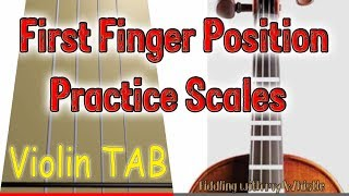 First Finger Position - Practice Scales - Violin - Play Along Tab Tutorial