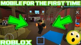 YOUNG MOBILE GOD ALREADY?! (MASTER PLAYS ROBLOX ASSASSIN ON MOBILE) *FIRST TIME PLAYING*