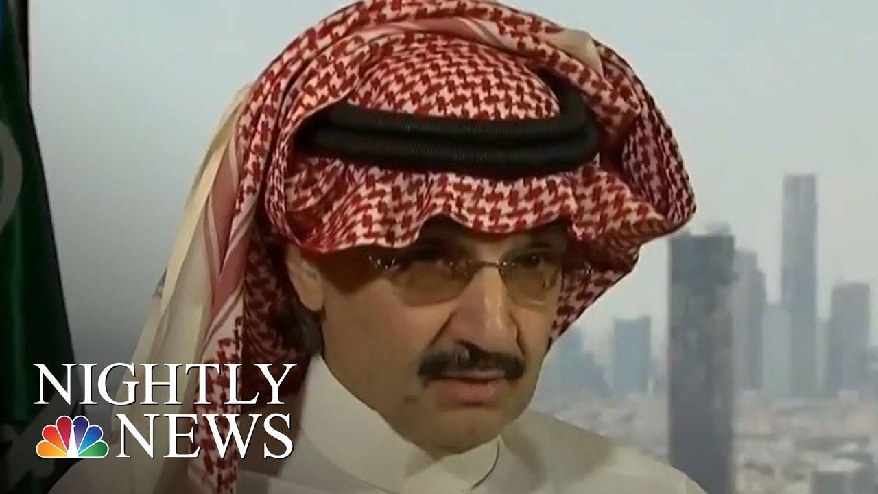 Saudi Arabia Anti-Corruption Committee Detains 11 Princes, 4 Sitting Ministers | NBC Nightly News