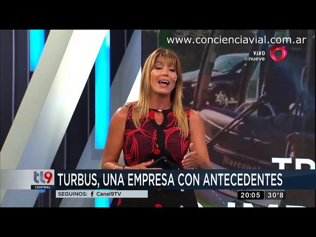 Informe sobre exceso de velocidad en micros tras accidente de Turbus en Mendoza (Canal 9, 2017)
