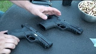 Como Calibrar el Rayo Laser en las Pistolas, Smith & Wesson M&P, calibre 45 y 9 mm, en Español