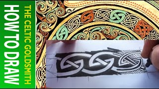 How to Draw Celtic Knots 11 - Border Triskele Lindisfarne - 1/2