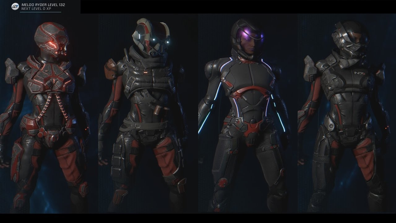 Mass Effect Andromeda All Armors And Outfits Armor Crafting