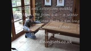 Solid Oak Refectory Table 8 10 12 Seater
