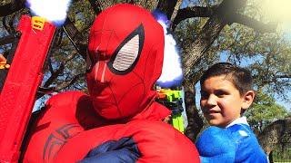 Kid Heroes 31 - Spiderman vs Power Ranger - Epic Real Life Superhero Fight